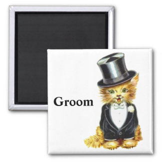 Cat Groom Magnet
