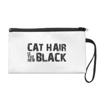 Cat Hair is the New Black Wristlet Clutches