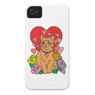 Cat has lots of Love iPhone 4 Case-Mate Case