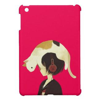 CAT HAT - Anime Child with Cat iPad Mini Cases