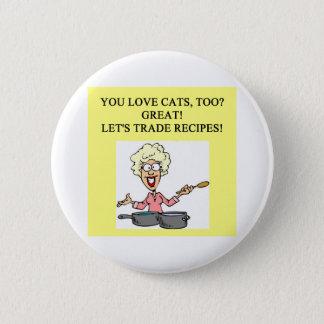 cat hater design 6 cm round badge