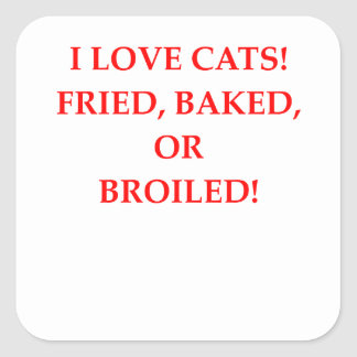 cat hater square sticker