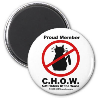 Cat Haters Of The World Magnet