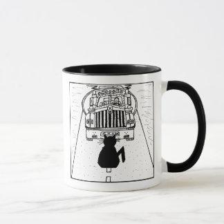 Cat Haters Truck Cartoon Mug