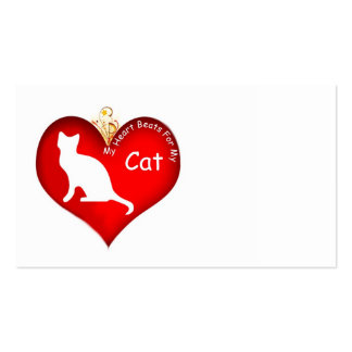 Cat Heart Beats Business Cards
