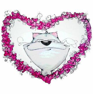 cat heart photo sculptures