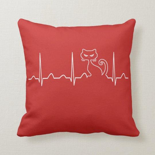 Cat Heartbeat Cushion
