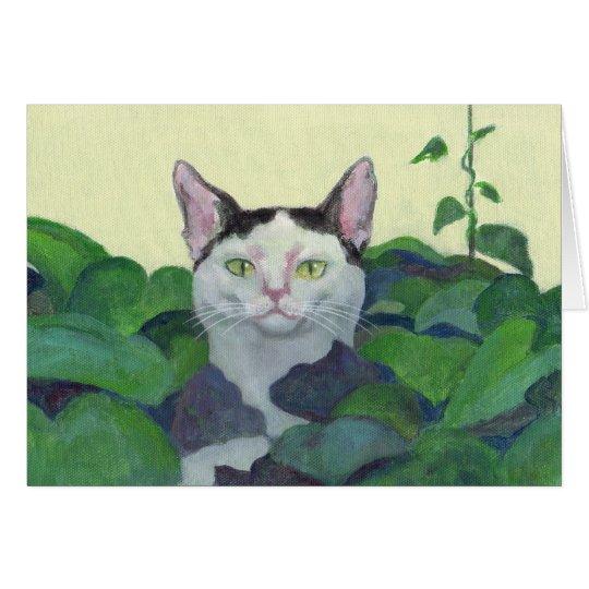 Cat Hide-And-Seek Card