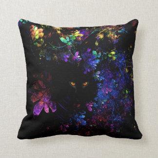 Cat Hiding In Flowers Cushion