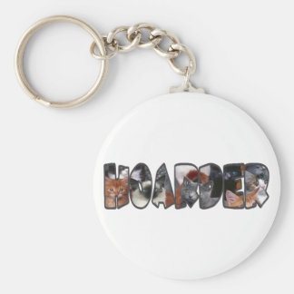 Cat Hoarder Basic Round Button Key Ring