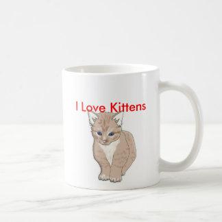 cat, I Love Kittens - Customized Coffee Mug