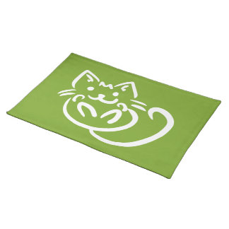 Cat Illustration custom placemats
