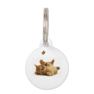 Cat image for Round Small Pet Tag
