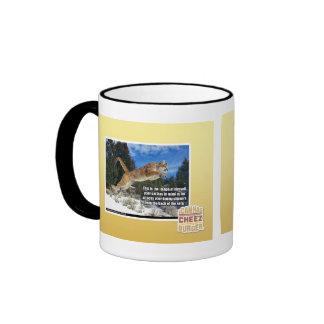 Cat image ringer mug