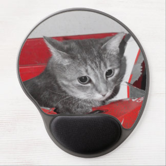 Cat in a box gel mouse pad