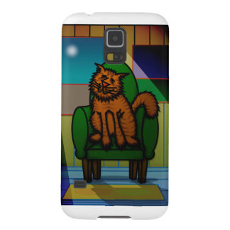 Cat in a chair galaxy s5 covers