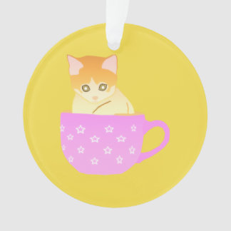 cat in a cup ornament