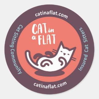 Cat in a Flat Classic Round Sticker