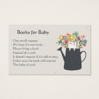 Cat In A Watering Can Book Request Cards