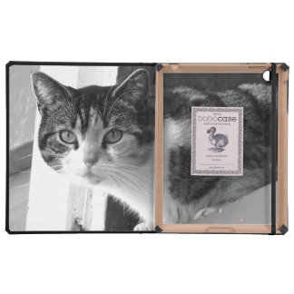 Cat in black and white iPad cover