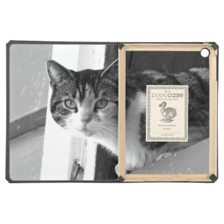 Cat in black and white iPad air cover