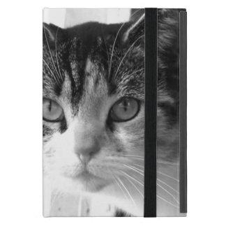 Cat in black and white iPad mini cover