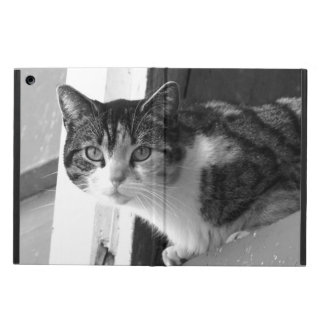 Cat in black and white iPad air cases