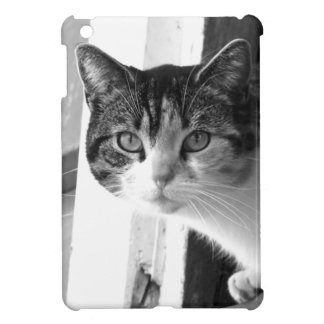 Cat in black and white iPad mini case
