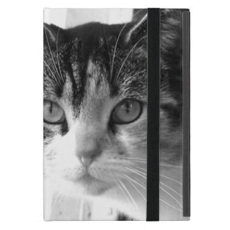 Cat in black and white iPad mini cover