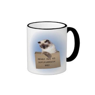 Cat in Box Himalayan Ringer Coffee Mug