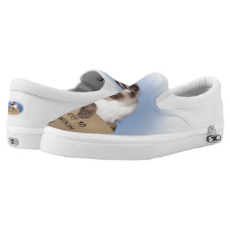 Cat in Box Slip On Shoes
