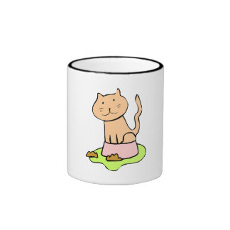 Cat In Food Dish Mugs