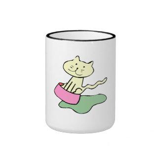 Cat In Food Dish Mug