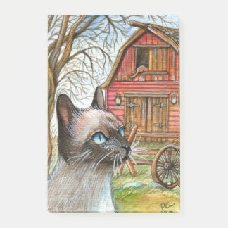 Cat in Front of Barn House Post-it® Notes