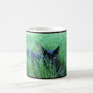 Cat-in-Grass Custom Mug