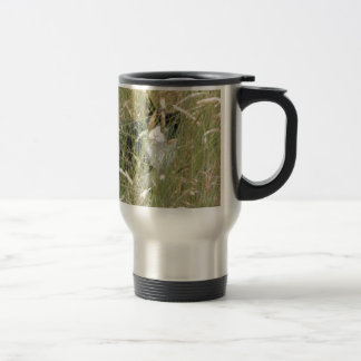 cat in Grass Stainless Steel Travel Mug