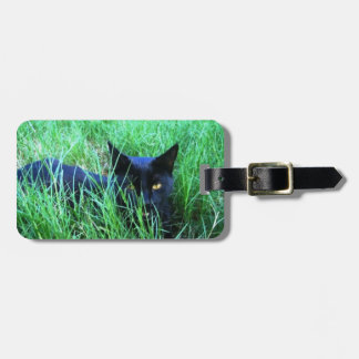 Cat in Grass Tag