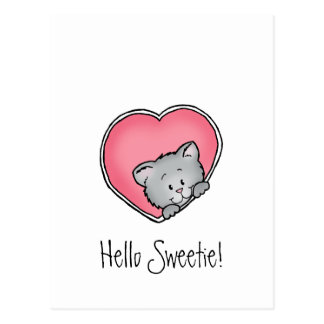 Cat in heart - Valentine's Day Gift Postcard