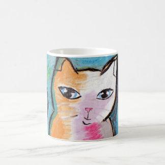 CAt in oil pastels Coffee Mug