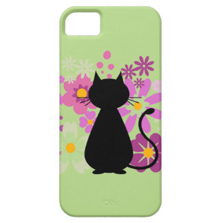 Cat in Pink Flowers BARELY THERE iPhone 5 CASE