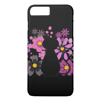 Cat in Pink Flowers IPhone 7+ Barely There Case