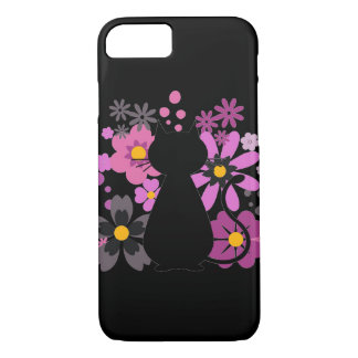 Cat in Pink Flowers IPhone 7 Barely There Case