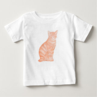Cat in Sepia Baby T-Shirt