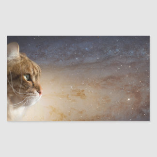 Cat in the Andromeda galaxy Rectangular Sticker