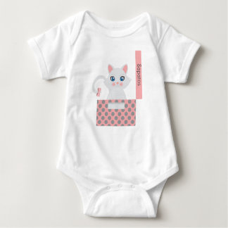 Cat in the box baby bodysuit