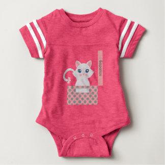 Cat in the box baby bodysuit
