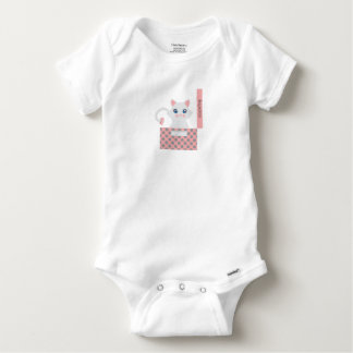 Cat in the box baby onesie