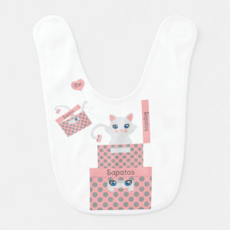 Cat in the box bib