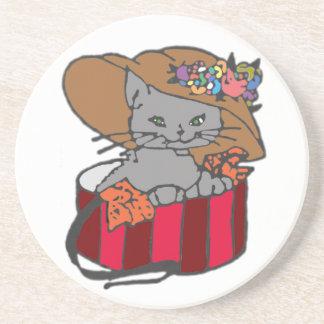 Cat in the Box Coaster