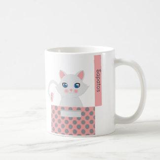 Cat in the box coffee mug